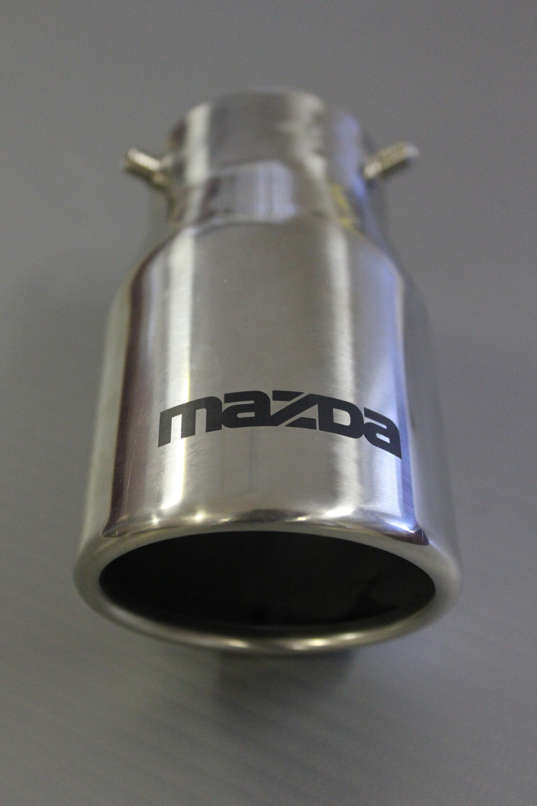Laser Engraved Chrome Mazda Exhaust Tip