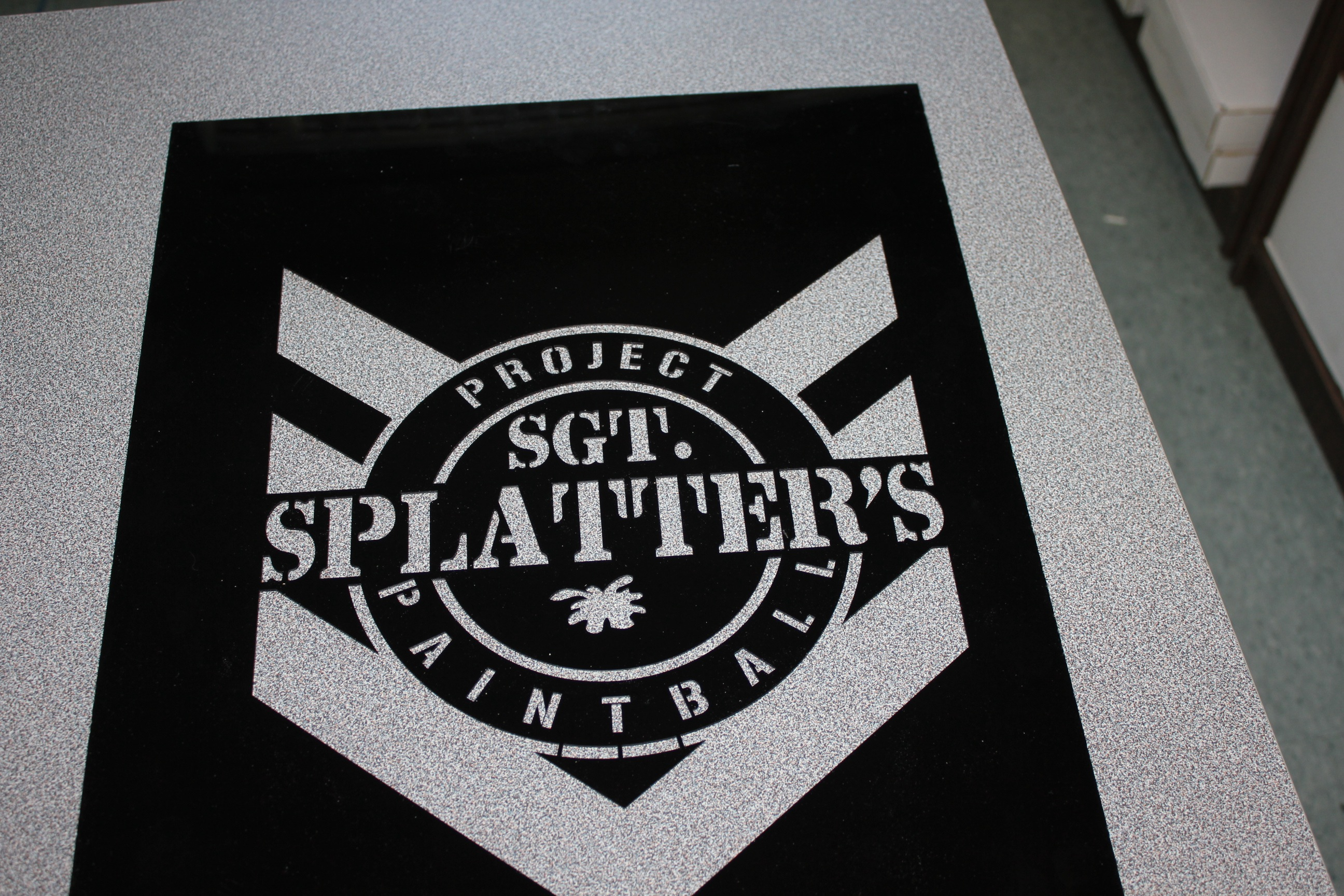 Sgt. Splatter's Custom Cut Sign/ Stencil