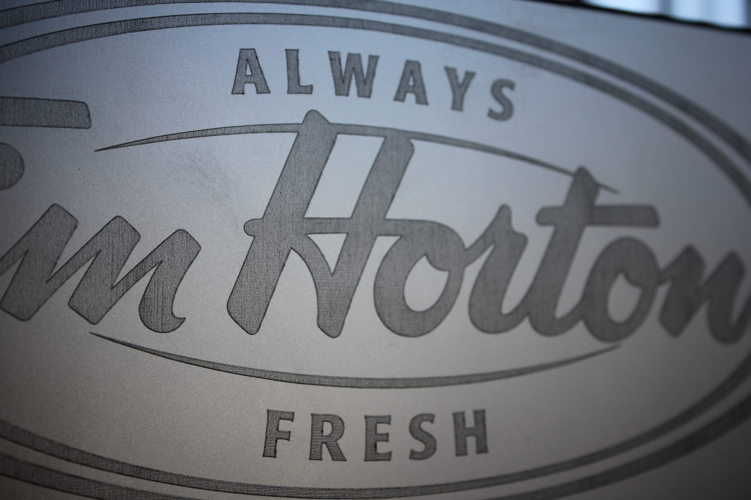 Tim Horton's Frosted Glass