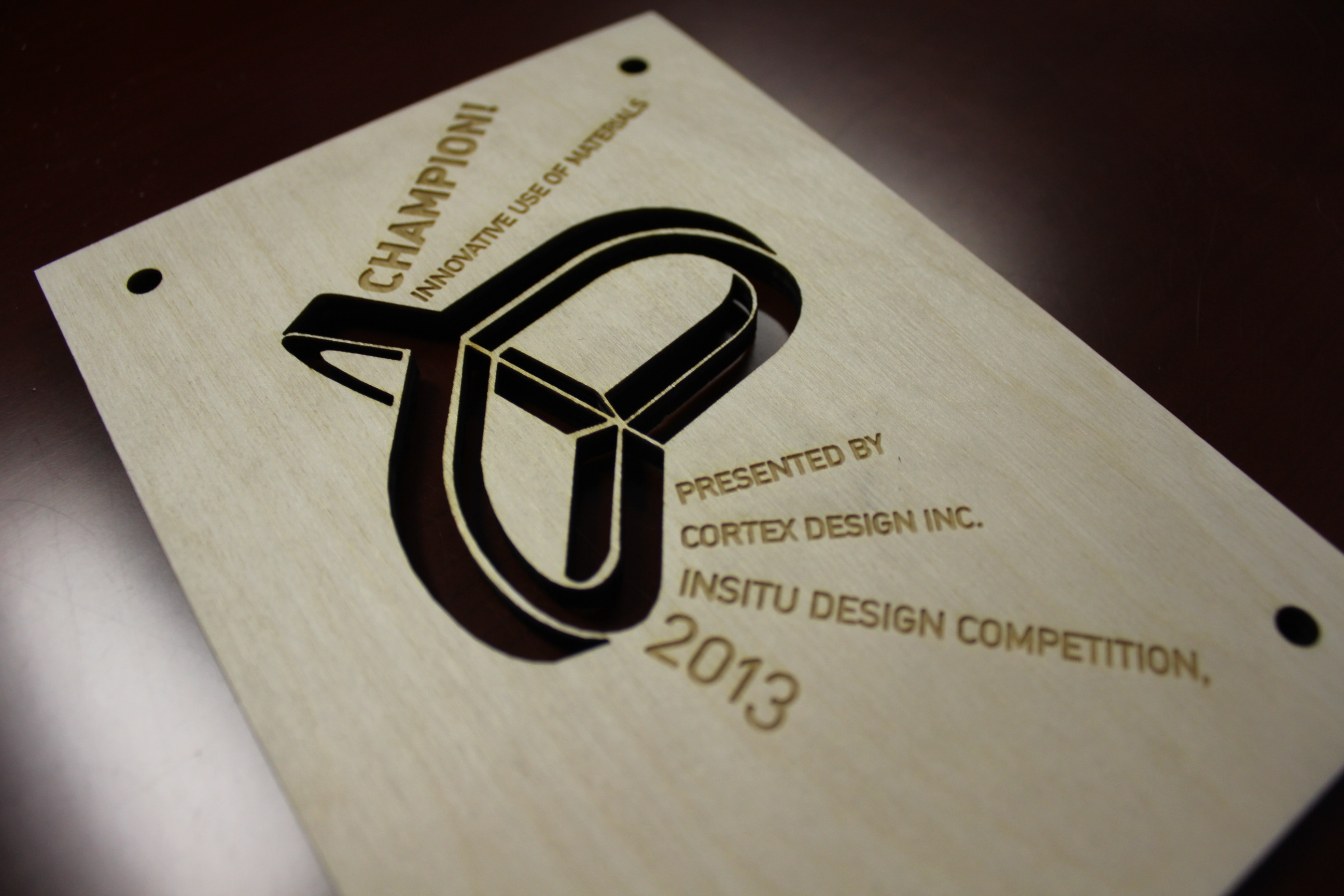 Laser Cutting and Engraving 3/8″ Wood