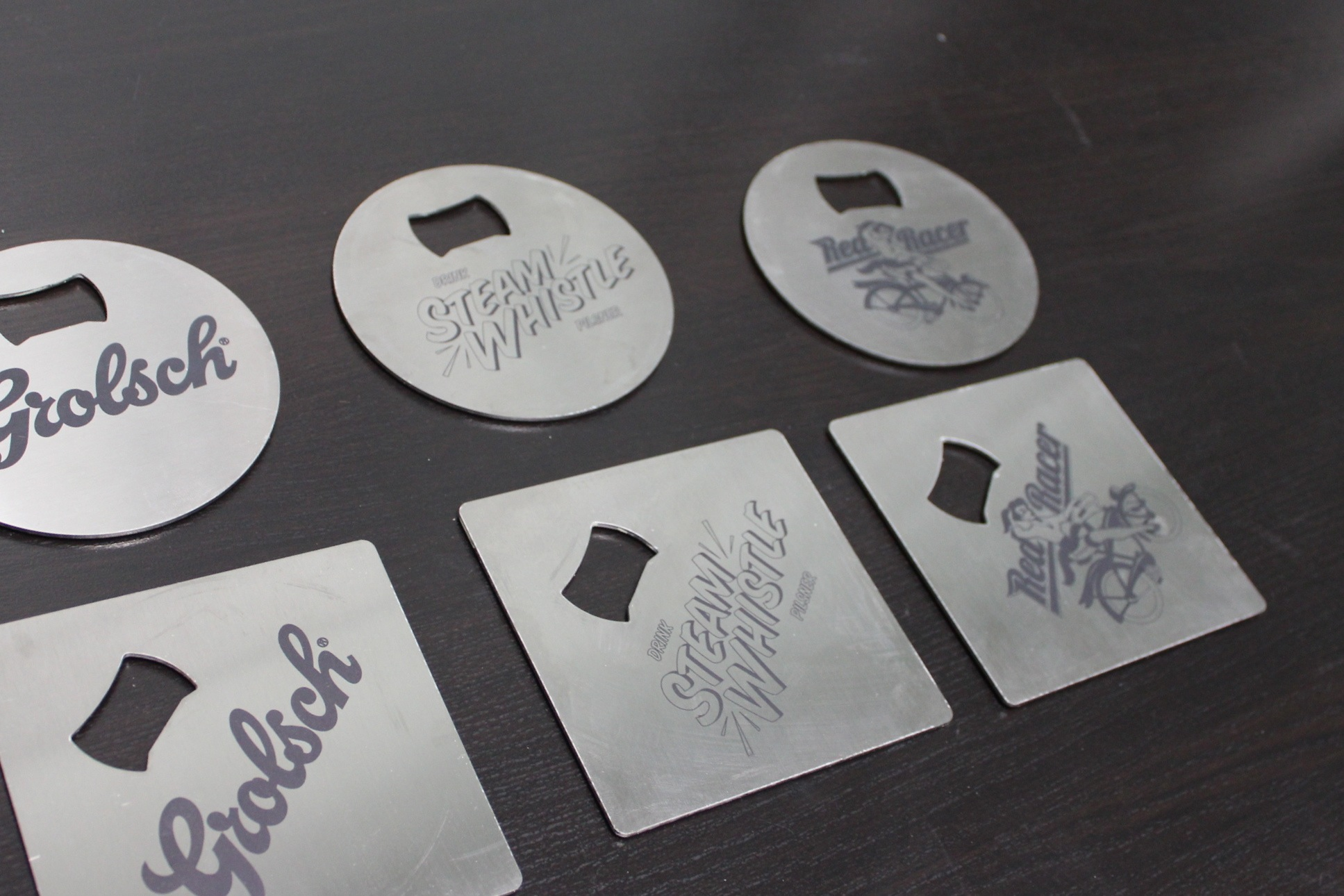Custom Laser Cut/Engraved Drink Coasters With Bottle Opener