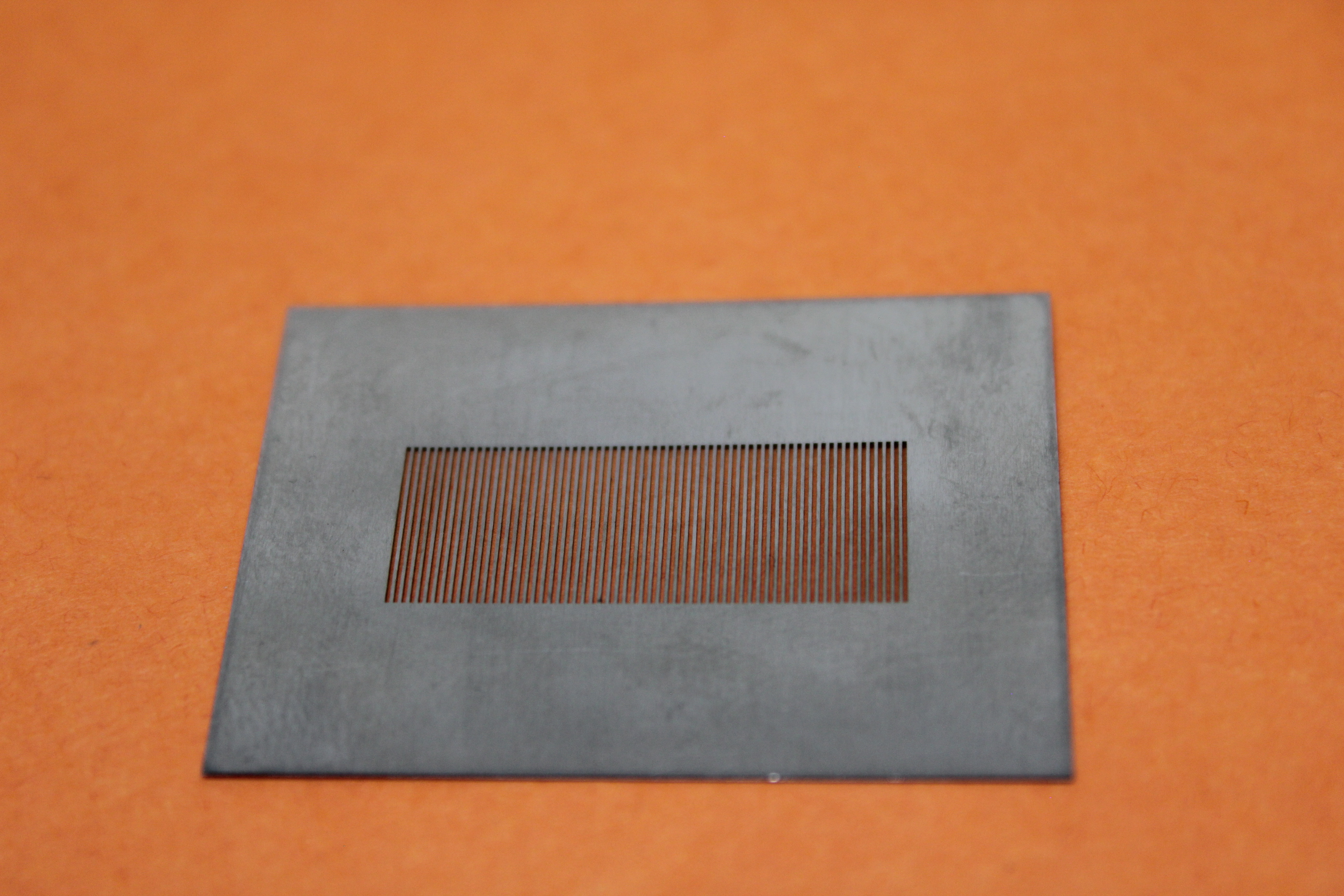 Laser cutting 0.0015″ slots into stainless steel